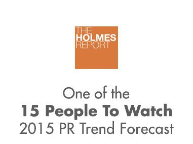 One of the 15 People To Watch 2015 PR Trend Forecast