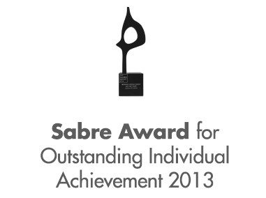 Sabre Award for Outstanding Individual Achievement 2013